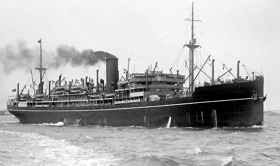 """Passenger Vessel """"Balranald"""", launched on 24 February 1921 and completed in April 1922, she took her maiden voyage on 20 April 1922 from London to Sydney.  Built by Harland & Wolff, Greenock, Scotland.Base Port:  LondonGross Tonnage:  13039Dimension"""