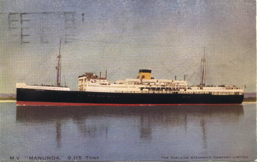 1929 passenger vessel.