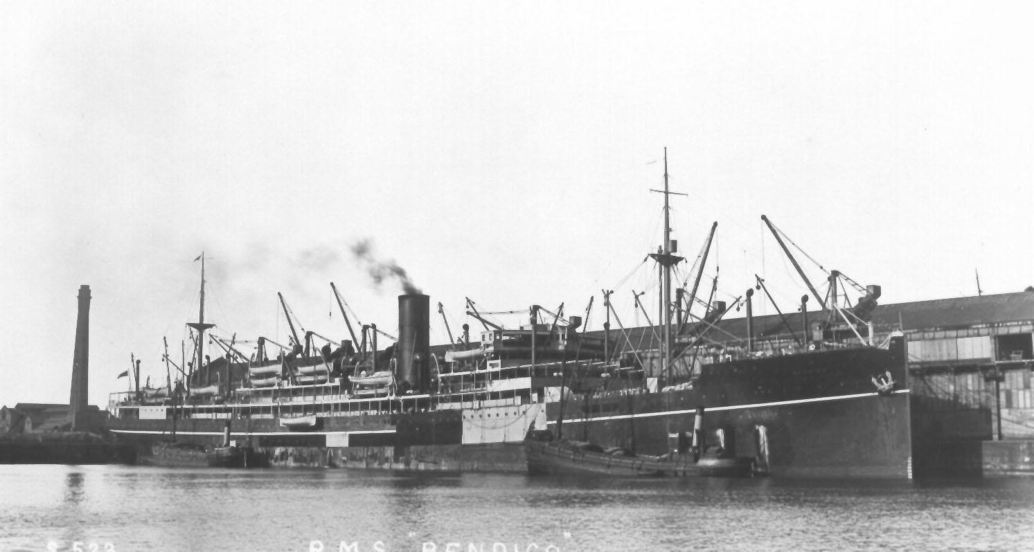 Built in 1922 by Harland & Wolff Ltd, Greenock, Scotland.  This vessel made her inaugural voyage on 12 August 1922 from London - Sydney. Base Port:  London Gross Tonnage:  13039 Dimensions:  length 537', breadth 64', draught 30' Motive power:  initial