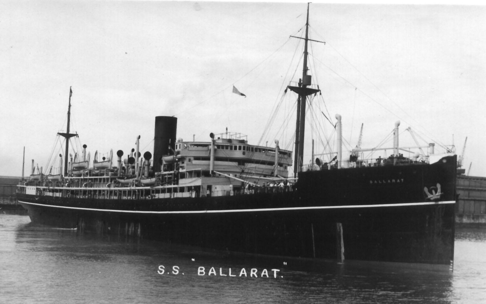 Built by Harland & Wolff, Greenock, Scotland.  Owned by P&O Branch Service from 1921 - 1935.  She had her maiden voyage on 27 January 1922 and then operated the route between the UK and Australia via the Cape of Good Hope.  She was broken up in 1935 in Wa