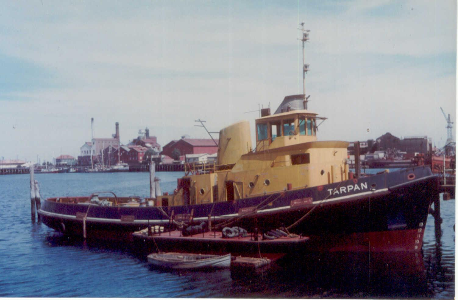 Berthed at Port Adelaide in 2001