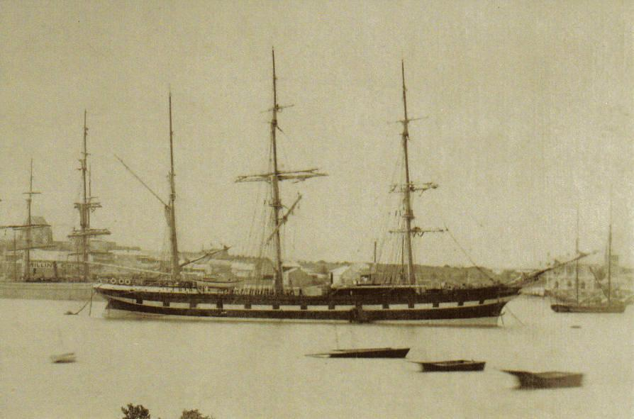 Berthed at Port Augusta, Sept.1884.