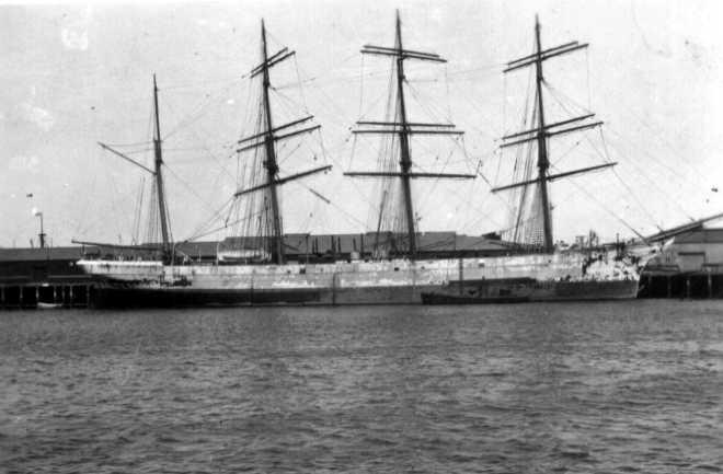 Iron 4 masted Barque.