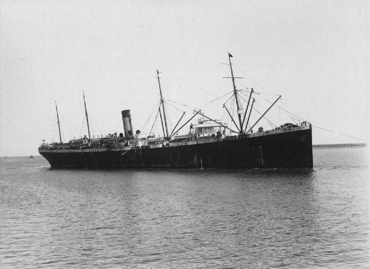 """Passenger vessel """"S.S. Runic"""", built in 1900 at Belfast by Harland & Wolff for White Star Line. Official Number:  113441 Dimensions:  length 500', breadth 63', draught 40' Port Of Registry:  Liverpool Flag:  British"""