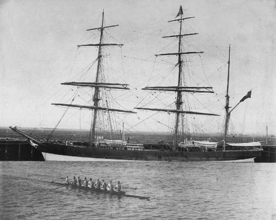 """Iron Barque, """"Letterewe"""", built ijn 1876 at Liverpool by WH Potter & Co.  Owned by J Dowie Co. Tonnage:  829 gross Dimensions:  length 191'0"""", breadth 33'3"""", draught 19'0"""" Port Of Registry:  Liverpool Flag:  British Official Numbe:  76394"""