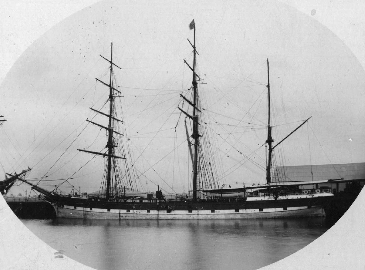 "Barque ""Barossa"", built in 1873 at Sunderland By W Pile & Co."
