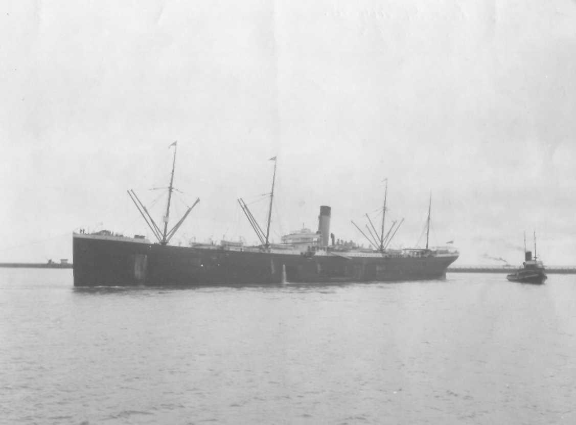 """Passenger vessel """"Medic"""" built in 1899 bby Harland & Wolff, Belfast for White Star Line.  She operated the route between the UK and Australia via the Cape of Good Hope.  On 3 August 1899 she took her first voyage and in 1917 was commandeered as a troopshi"""