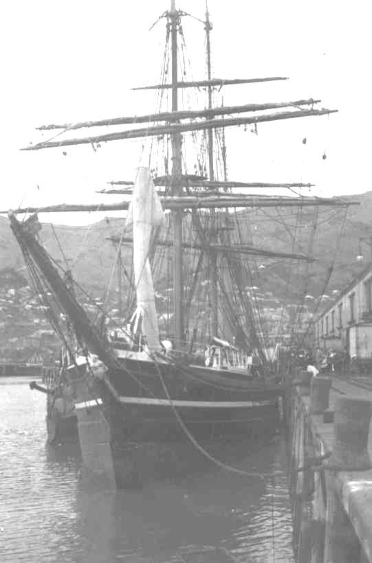 Wooden Auxilliary Screw Barque, built in 1901 by Dundee Shipbuilders Co Ltd - Dundee.  She was built especially for Captain Scott's Polar Expedition by the Royal Society and the Royal Geographical Society with a tremendously strong hull and bows to withst