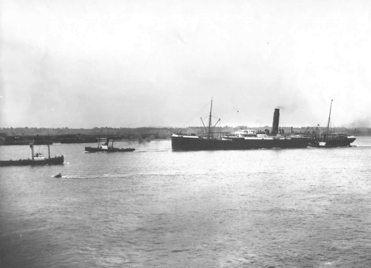 """""""S.S. Orient"""", the first steamship built specifically for the Orient Line in 1879."""