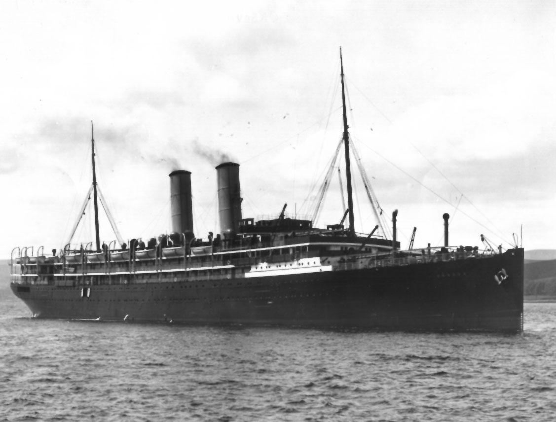 """Passenger vessel """"Orsova"""", built by John Brown & Co - Glasgow.  Launched on 7 - 11 - 1908 and completed in May 1909,  She took her inaugural voyage from London to Brisbane on 25 - 6 - 1909.  Base Port:  London Tonnage:  12036 gross Dimensions:  length"""