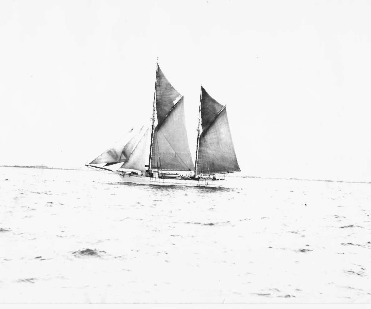 """Ronald Parsons' book """"Ketches of South Australia"""" describes """"Heather Belle"""" as a wooden ketch, built in 1905 for H Heather in Hobart.  It was later sold to H Jones & co Ltd, by early 1920's was owned by BJ Boxall.  Destroyed by fire at wallaroo, May 18, 1"""