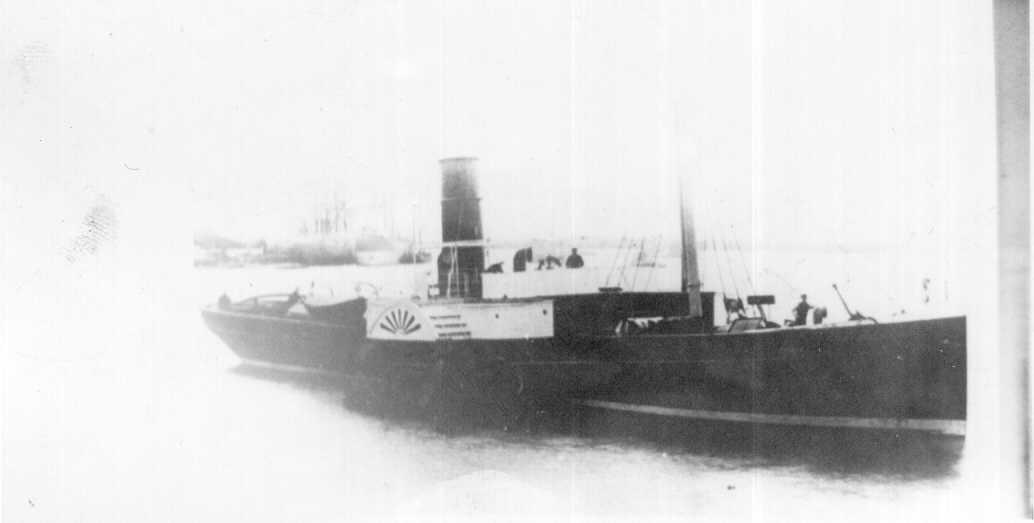 """Paddle Steam Tug """"Adelaide"""", built in 1877 at Aberdeen by Hall, Russell & Co for Messrs. Elder & Hughes of the Adelaide Steam Tug Co Ltd.  She made the trip to South Australia under sail, and had her paddle wheels fitted after her arrival at Port Adelaide"""