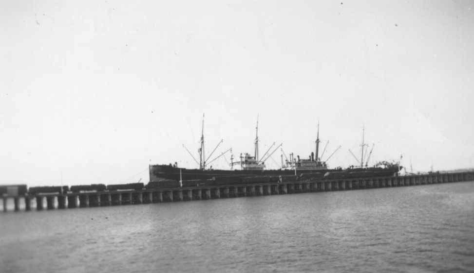 """General cargo vessel """"Asia"""", built in 1919 by Akt. Burmeister & Wain - Copenhagen.  Owned by Akties. Det Ostastiatiske Kampagni.  Tonnage:  7014 gross, 4460 net Dimensions:  length 425'3"""", breadth 55'2"""", draught 35'4"""" Port Of Registry:  Copenhagen Fl"""