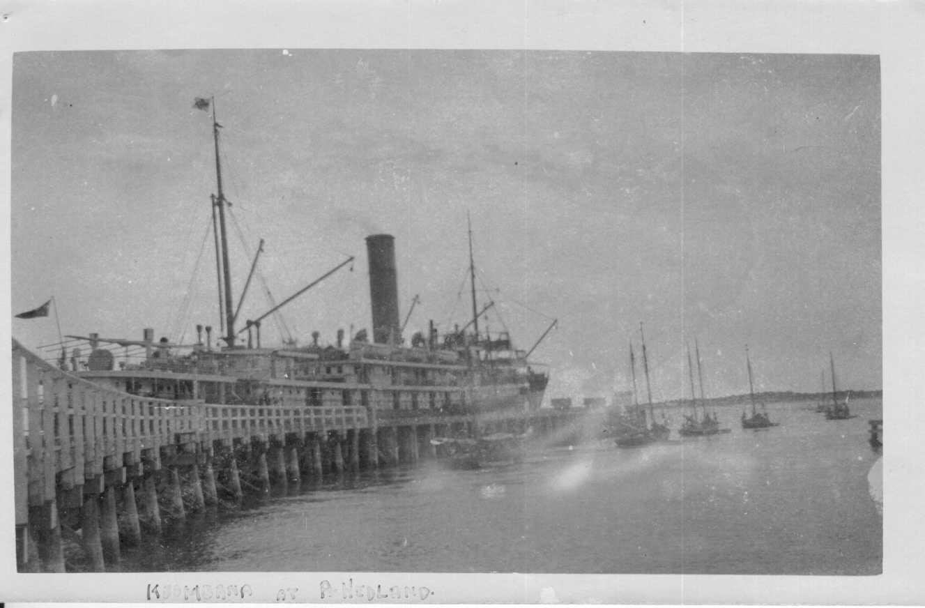 """Passenger Cargo vessel """"Koombana"""", built in 1908 by A Stephen & Sons Ltd - Glasgow, owned by the Adelaide Steamship Company from 1909 - 1912, where she worked the WA trade.  She disappeared during a storm near Port Hedland in 1912.  Tonnage:  3668 gross"""