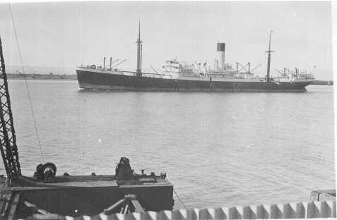 Passenger vessel entering port