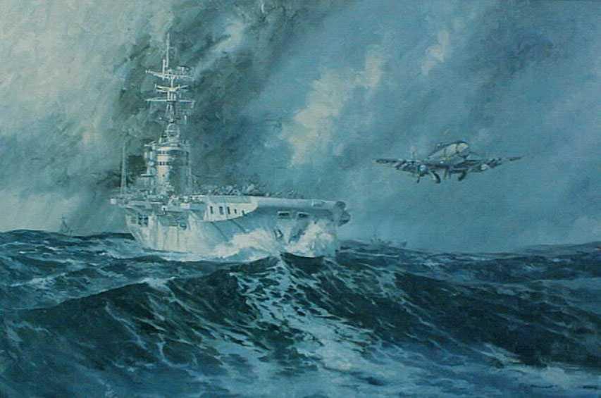 In Korean waters 1951 to 1952.