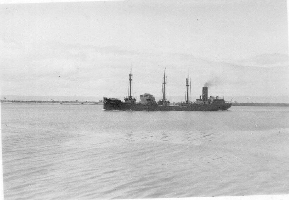 1930-31 General cargo vessel under way