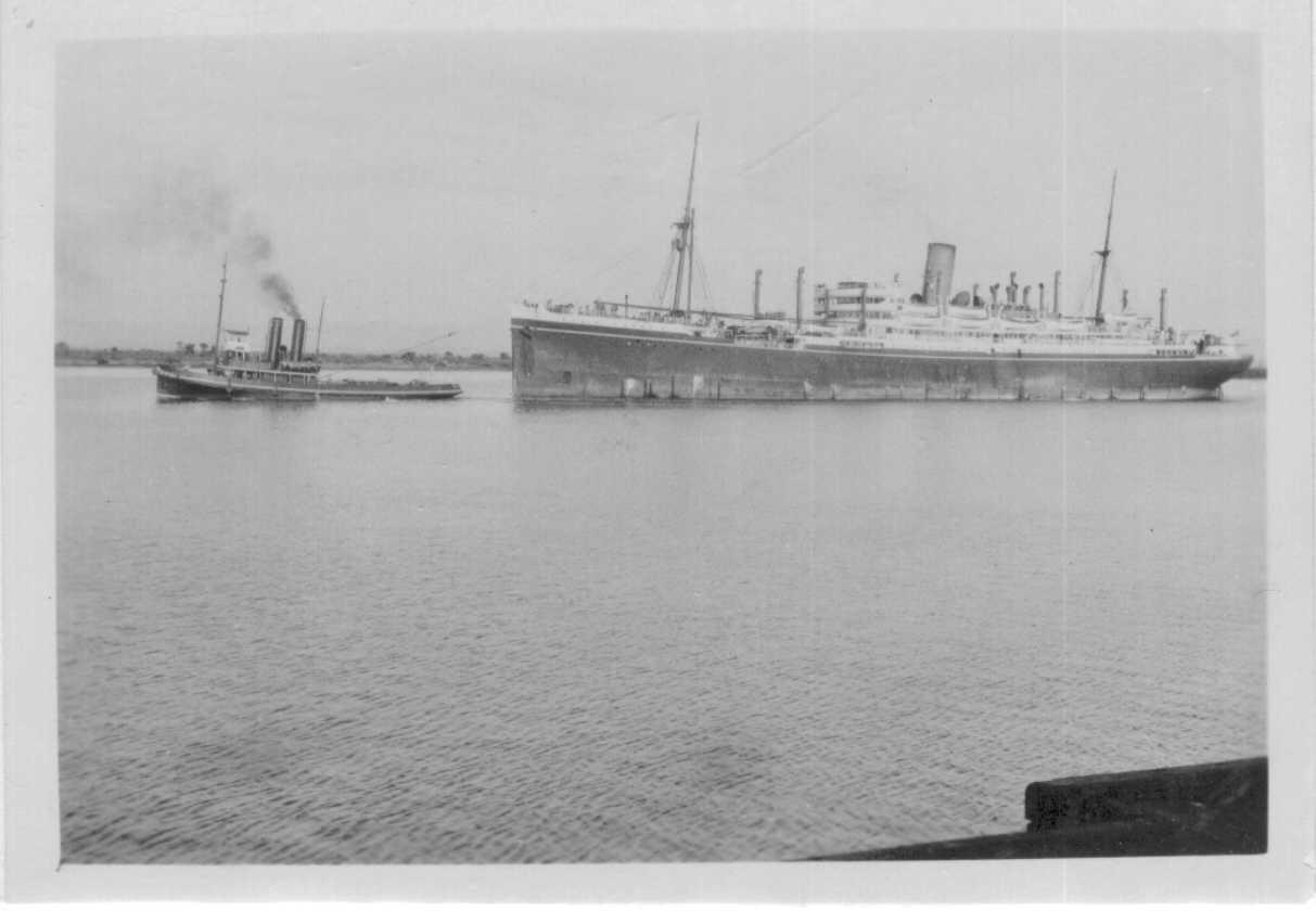Passenger vessel under tow