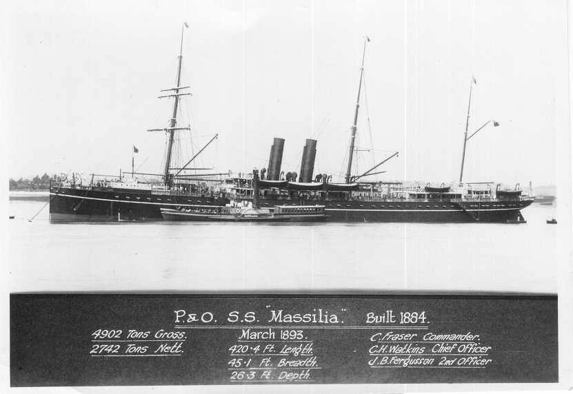 Passenger vessel at anchor