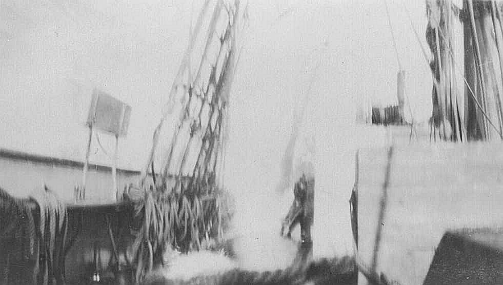 Off Greymouth New Zealand, 1920.