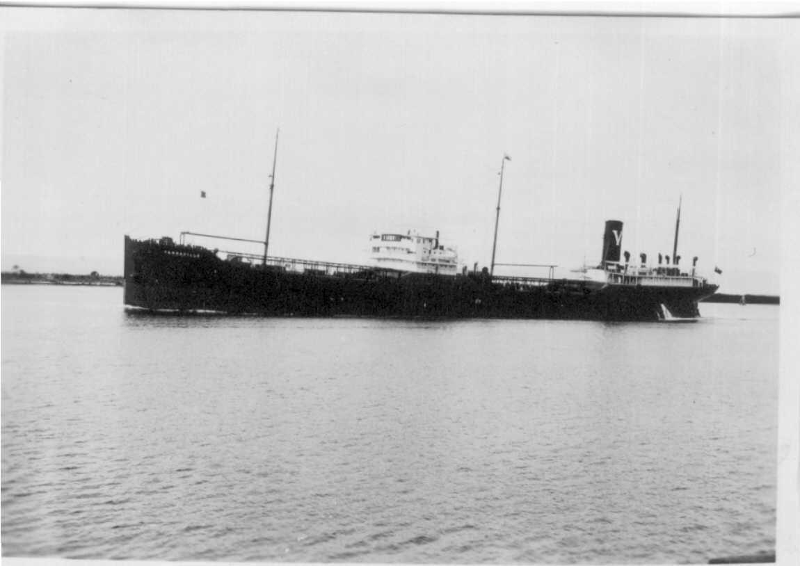 Tanker entering port
