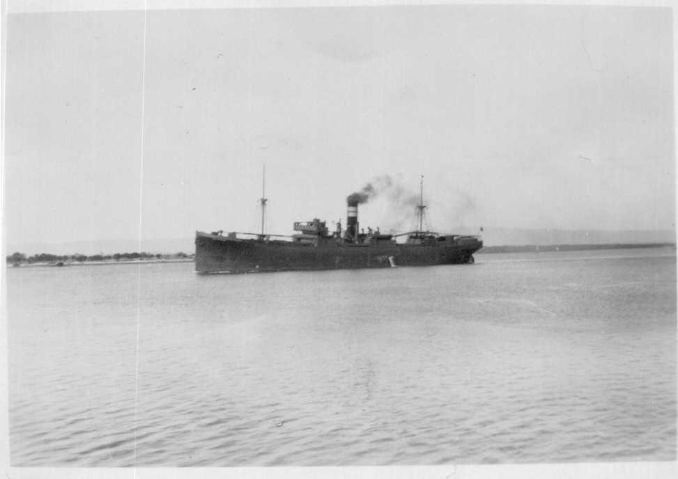 General cargo vessel under way