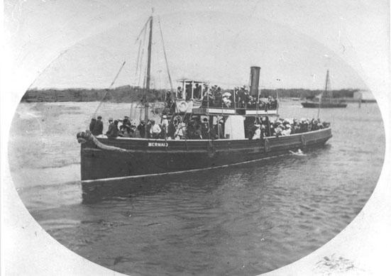 """Steam Tug, """"Mermaid"""", built in 1880 at Birkenhead, Port Adelaide.  Built by G Playfair and owned by G Anderson & partners.  Last heard of in 1927, fate unknown. Official Number:  79329 Dimensions:  length 76'1"""", breadth 14'7"""", draught 7'3"""" Port Of Regi"""