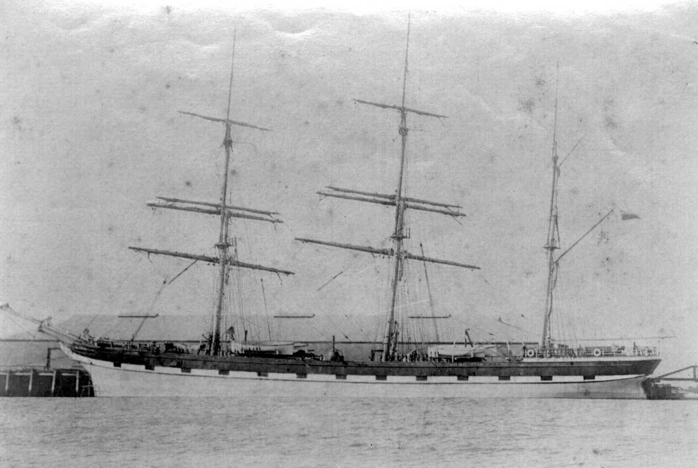 Loch Ness, built in 1869  This image shows vessel at Port with some rowers in foreground.