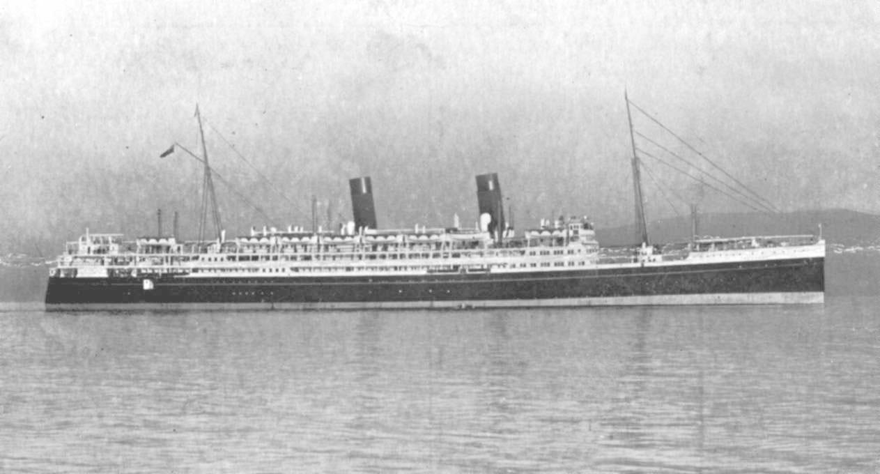 At sea, 1933.