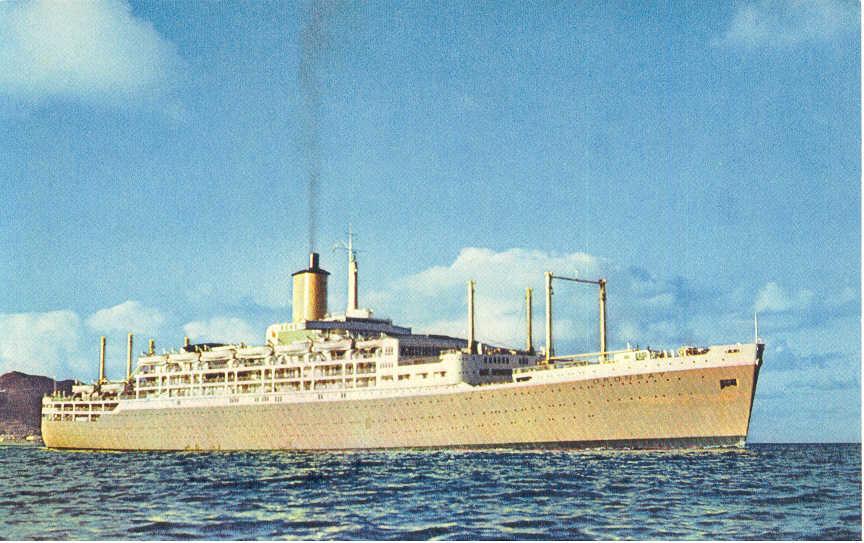 Passenger vessel under way