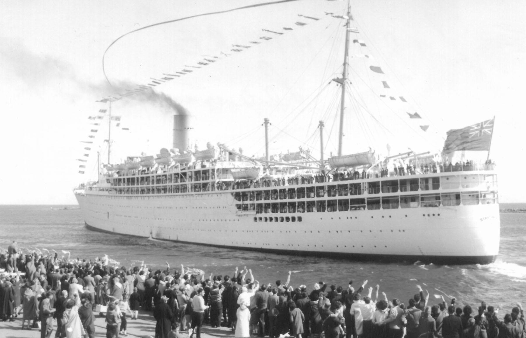 Built by Vickers-Armstrong Ltd, Barrow-In-Furness, England.  Launched on 4 April 1935 by the Duchess Of York and completed in September 1935, made her inaugural voyage on 27 September 1935 from London - Canary Islands. Base Port - London Gross Tonnage: