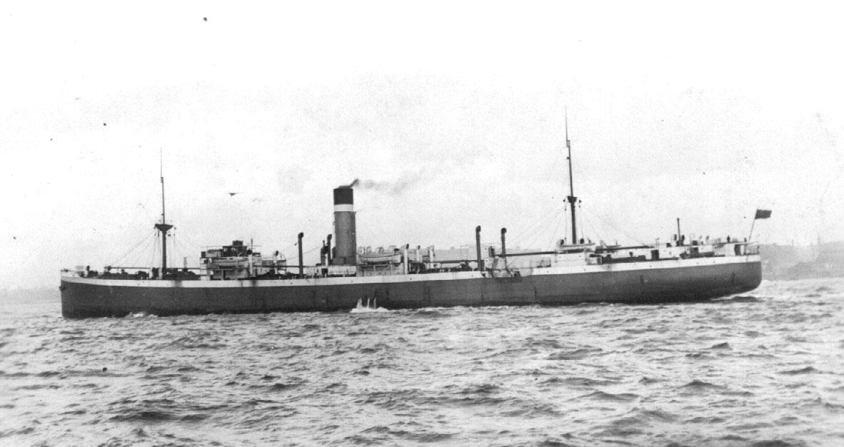 1920 general cargo vessel under way