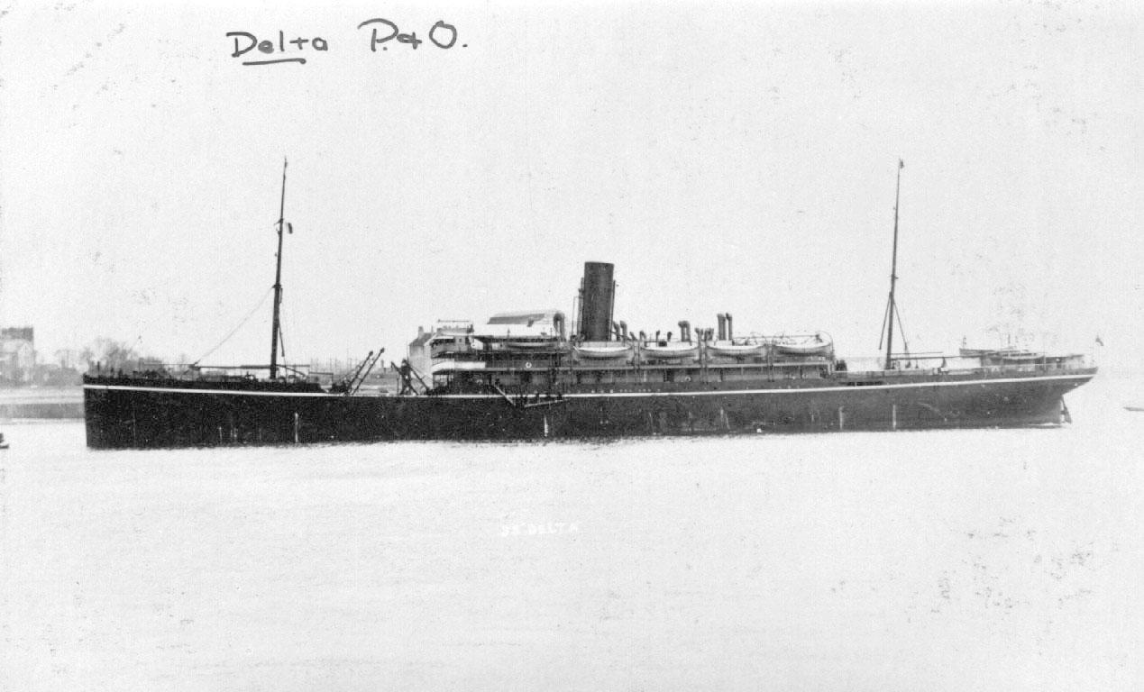 1905 passenger cargo vessel under tow