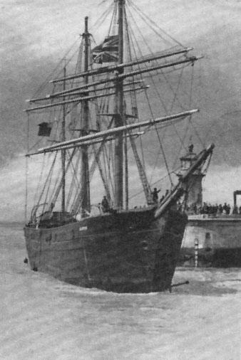 1875 Barque arriving at Ramsgate