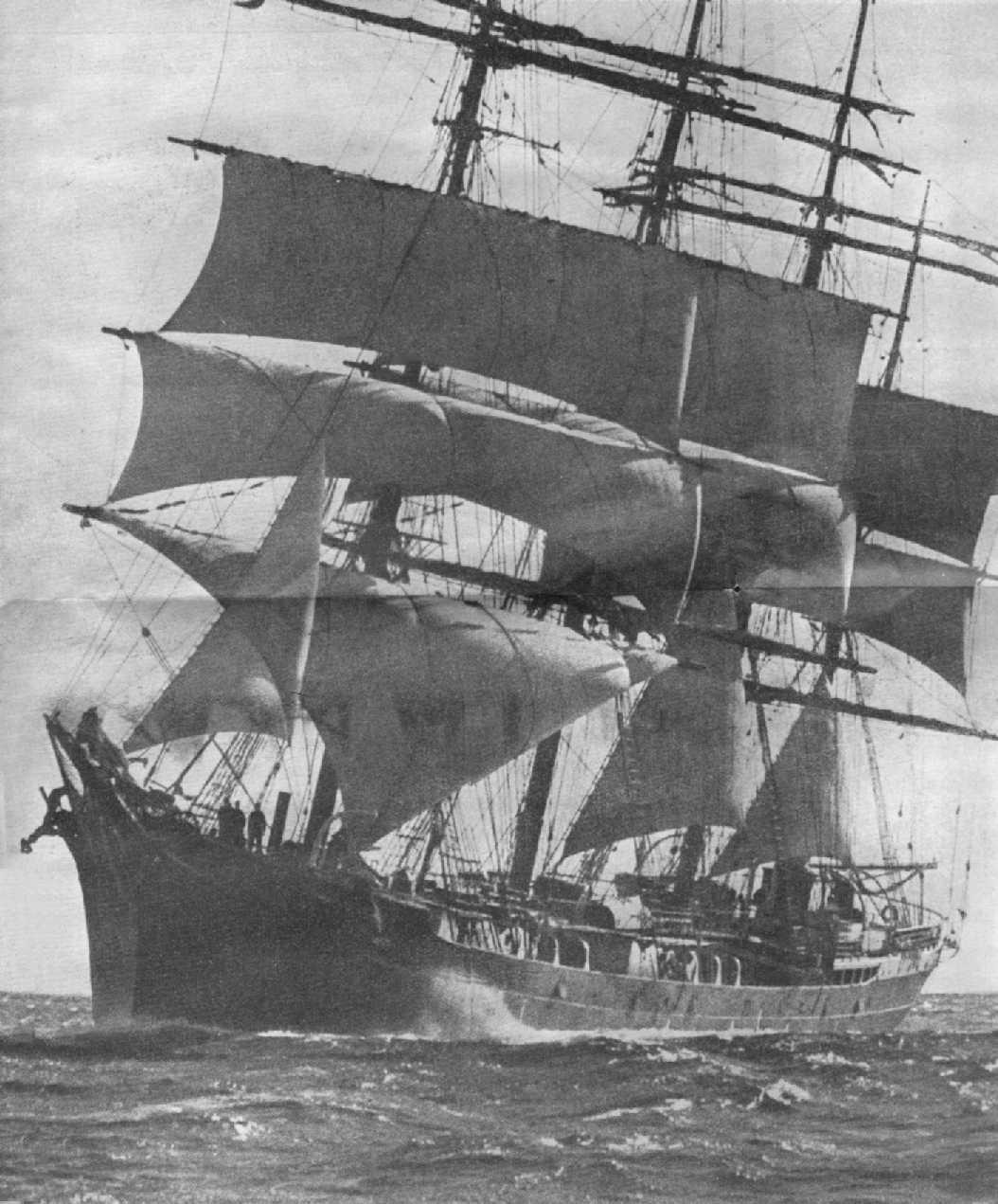 1891 Barque approaching Melbourne after a voyage of 198 days