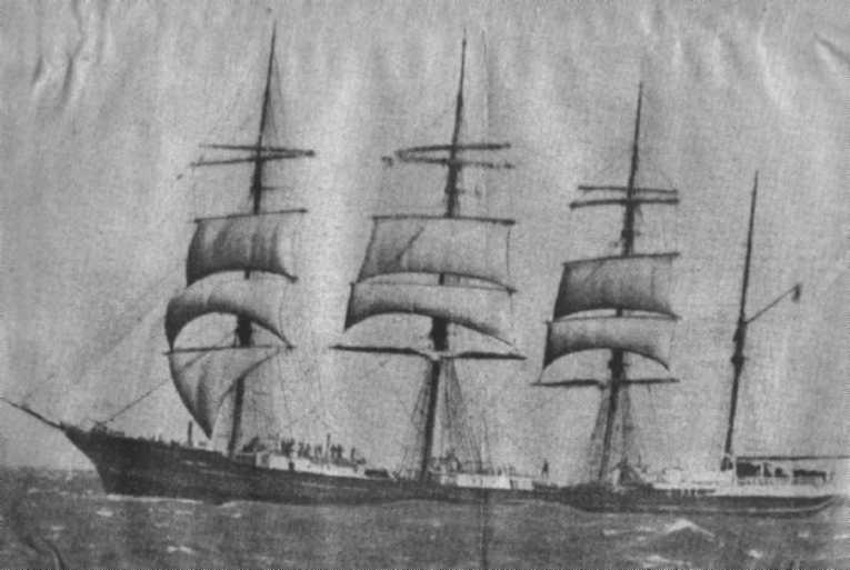 1891 Barque - standing in The Rip through to Port Phillip Bay