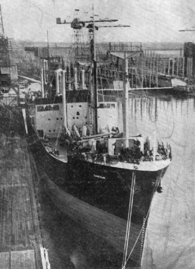 1947 general cargo vessel in port