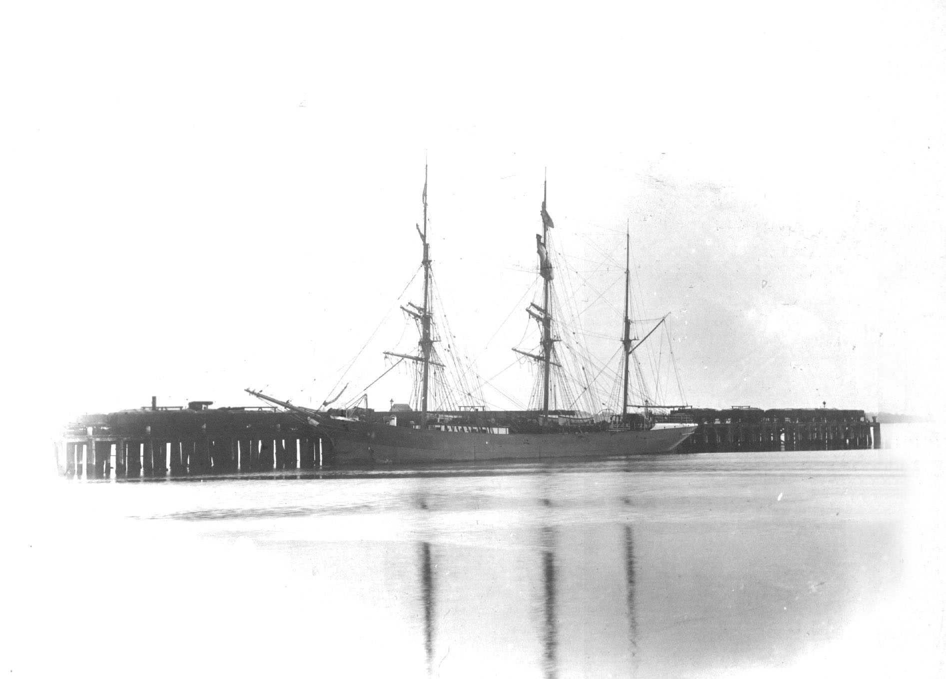 This image shows vessel berthed.