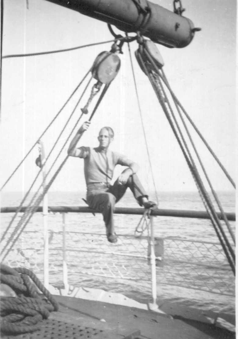Showing crewman Stan Webber at Port Victoria in 1947.