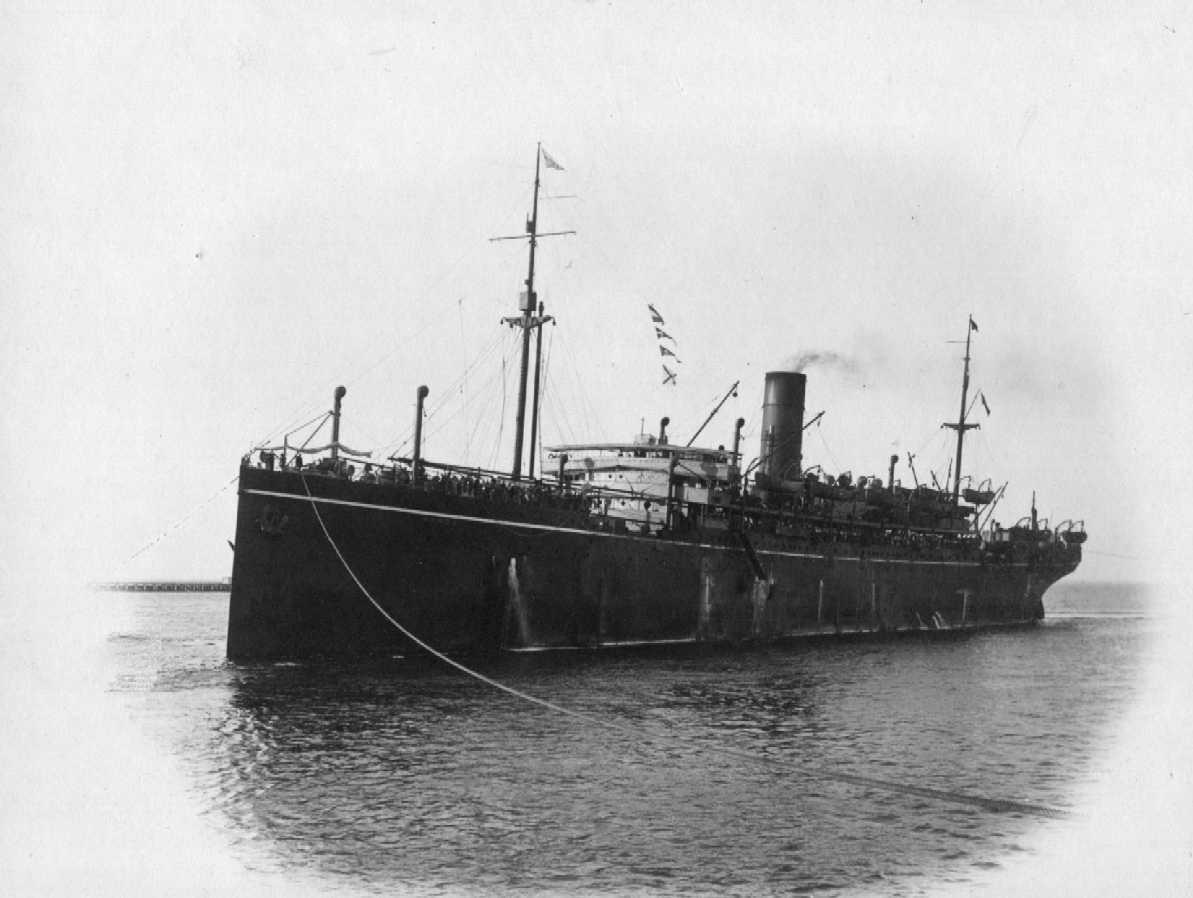 """Passenger Vessel """"S.S. Borda"""", built in 1914 at Greenock by Caird & Co for P&O Steam Navigation Co.  A Steel twin screw steamer of 1200nhp. Tonnage:  11136 gross, 7036 net Official Number:  135340 Dimensions:  length 500', breadth 62', draught 38' Por"""