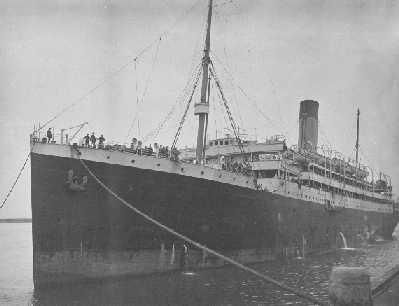 """Passenger Vessel """"Megantic"""", a steel twin screw steamer, built in 1909 by Harland & Wolff Ltd - Belfast.  Owned by Oceanic Steam Navigation Co Ltd and manged by White Star Line. Tonnage:  14878 gross, 9183 net Official Number:  127981 Dimensions:  leng"""