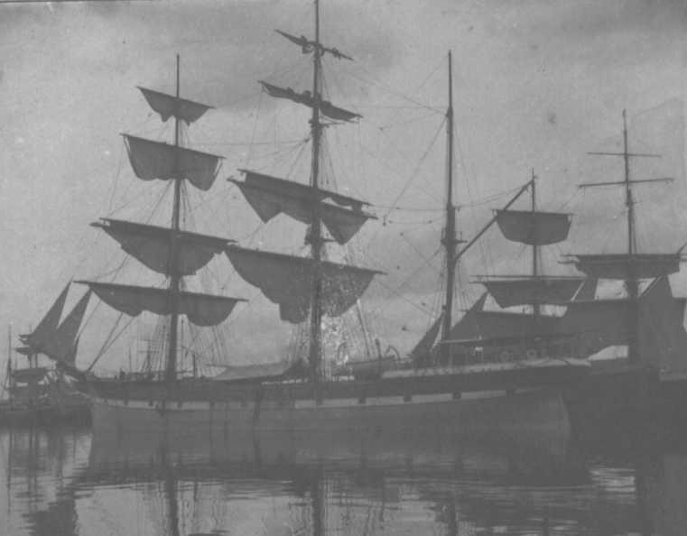 This image shows vessel drying her sails