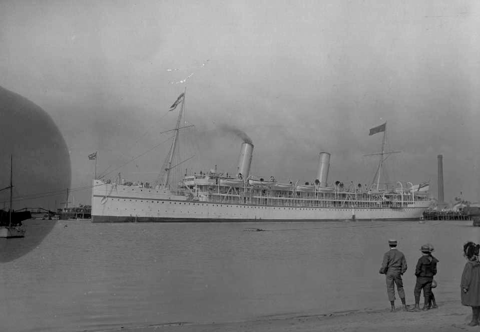 """Passenger vessel """"Ophir"""", built in 1891 at Glasgow by R Napier & Son for the Orient Steam Navigation Co.  The first Orient Liner to completely dispense with canvas and an early twin screw mail liner.  Built with the help of a subsidy from the British Gove"""