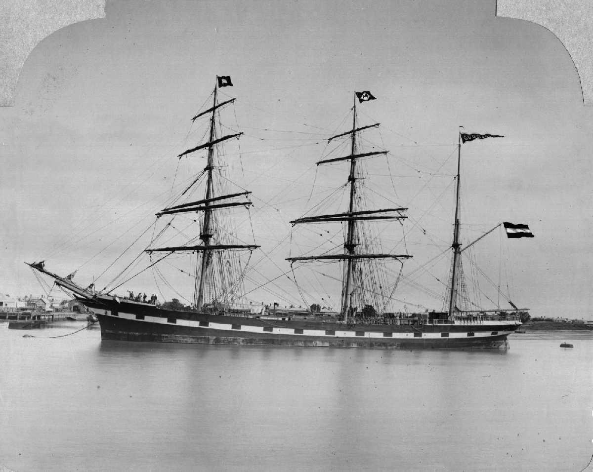 """Barque """"Gudrun"""", captained by A Karsten in 1905."""
