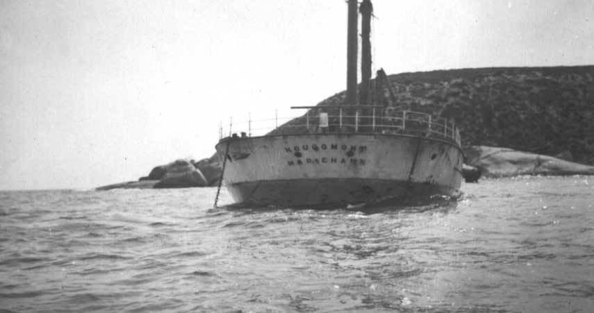 As the Stenhouse Bay breakwater, 1933.