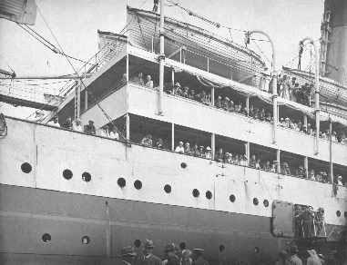 In port as troop ship.