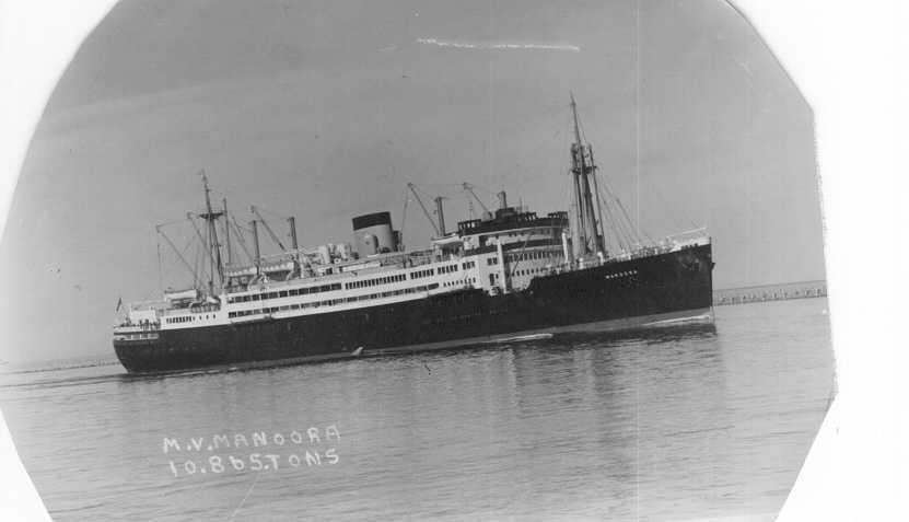 Passenger vessel entering harbour