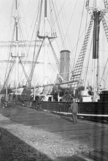 Berthed at Port Adelaide, 3/4/1930