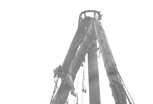 Showing head of foremast & bent foreyard, 21/4/1932.