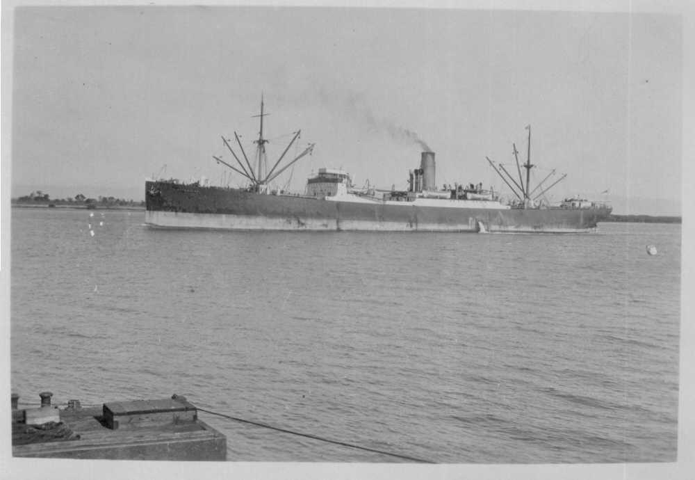 Freighter entering port